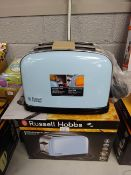 BRAND NEW RUSSELL HOBBS COLOUR PLUS 2 SLICE TOASTER