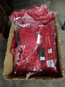 BOX 10 SCATTERED STAR OVERSIZED TOPS - RED - SIZES S/M