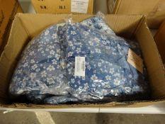BOX 10 DITSEY FLORAL TYE DYE SMOCKS - BLUE