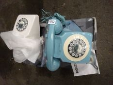 X 1 WHITE & X 1 BLUE PHONE