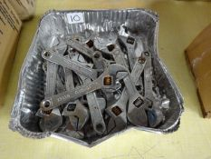 20 SMALL ADJUSTABLE SPANNERS