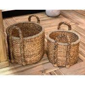 Hand Weave Rattan 2 Piece Basket Set - RRP £121.99