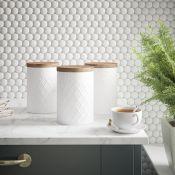 Coffee, Tea & Sugar Jar Set - RRP £25.00