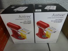 X2 ANTREE Pasta Roller & Cutter Attachment 3-in-1 Set - RRP £84.99 EACH