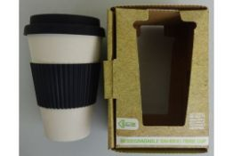 Black Biodegradable Bamboo Fibre Cup