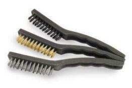 """x2 Packs New Marksman 3pc 8.5"""" Wire Brush Set (6 Brushes)"""