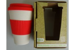 Red Biodegradable Bamboo Fibre Cup