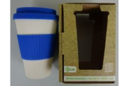 Blue Biodegradable Bamboo Fibre Cup
