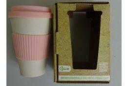 Pink Biodegradable Bamboo Fibre Cup