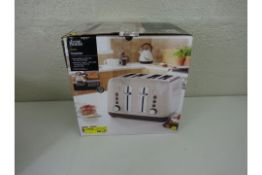 GRADE A George at Home 4 Slice Toaster - Cream