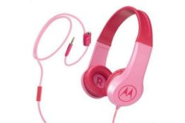 Brand New Motorola Pink Squads 200 Kids Wired Headphones - RRP £13.