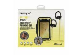 Brand New Intempo Active WDS52 Bluetooth Running Set Adjustable Armband & Headphones