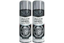 x2 Alloy Paint Spray Silver Wheel Restorer Car Auto Paint Can