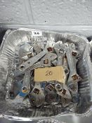 TRAY OF 20 SM ADJUSTABLE SPANNERS (SLIGHLY RUSTY)