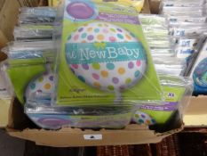BOX OF APPROX 100 NEW BABY BALLOONS