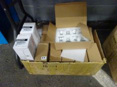 BOX OF NEW BULBS & PRINTER TONERS