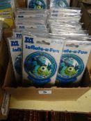 BOX OF APPROX 100 DISNEY MONSTER UNIVERSITY BALLOONS