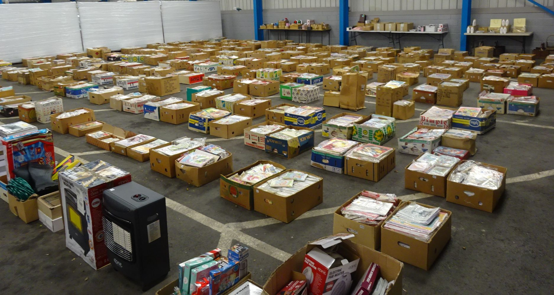 Over 150,000 New Birthday & Assorted Cards From Shop Closure & Boxes Of Raw Untested Customer Returns Including Kitchenware, Electricals etc