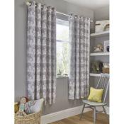 Elephant Trail Eyelet Blackout Curtains - RRP £49.99