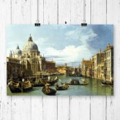 Entrance to the Grand Canal' by Giovanni Canaletto Painting Print - RRP £23.99