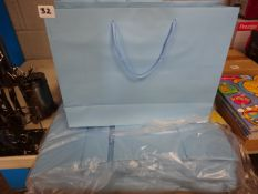 QTY OF LG BLUE GIFT BAGS APPROX 50