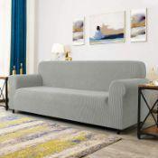 Jacquard Spandex Stretch Box Cushion Sofa Slipcover - RRP £75