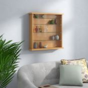 Wall Mounted Display Cabinet - RRP £79.99