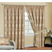 Virgina Pencil Pleat Room Darkening Thermal Curtains - RRP £87.99