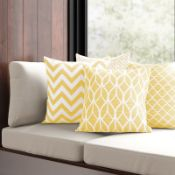 Ashcraft Cotton Cushion Cover (Set of 4) - RRP £31.99 Cover Only