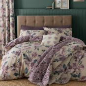Painted Floral Easy Care Duvet Cover Set - RRP £22.99