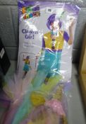 CLOWN GIRL FANCY DRESS OUTFIT & UNICORN OUTFIT