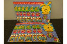 BOX OF 12 NEW 40 PAGE SCRAP BOOKS