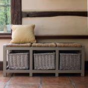 Gracelyn Wicker Storage Bench - RRP £147.99