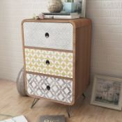 Annaline 3 Drawer Bedside Table - RRP £127.99