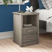 Arka 2 Drawer Bedside Table - RRP £61.50