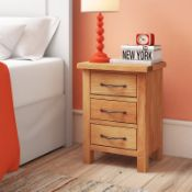 3 Drawer Bedside Table - RRP £121.99