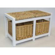 Gracelyn Wicker Storage Bench - RRP £104.00