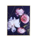 Dark Floral Capped Canvas - RRP £45.00