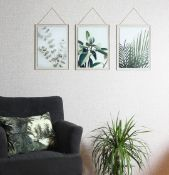 Hanging Leaf Prints on Glass - RRP £40.00