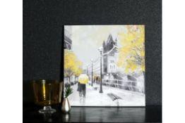 Arthouse Ochre London Couple Canvas - RRP £17