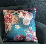 Arthouse Bloom Teal Velvet Cushion - RRP £19.99