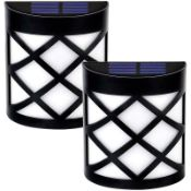 Fairlady Black 16Cm H Solar Powered Integrated LED Outdoor Bulkhead Light RRP £23.99
