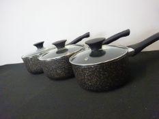Rusel Hobbs 6 Piece Stainless Steel Non Stick Cookware Set RRP £29.99