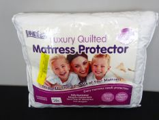 4FT 6 Double Luxury Quilted Hypoallergenic Mattress Protector