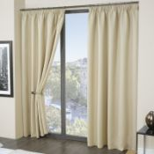 Pencil Pleat Blackout Thermal Curtain RRP £23.92