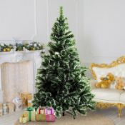 5ft Green Spruce Artificial Christmas Tree with Metal Stand RRP £38.99