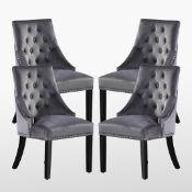 Scott Tufted Velvet Side Chair RRP £150.00 (SET OF 2)