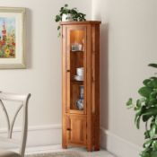 Rayleigh Solid Oak Corner Display Cabinet RRP £779.99 (COLLECTION ONLY)