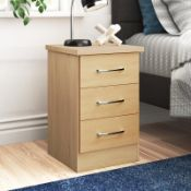 Cascio 3 Drawers Bedside Table RRP £61.99