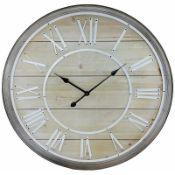 Cutler Bay Oversized 80cm Silent Wall Clock RRP £159.99